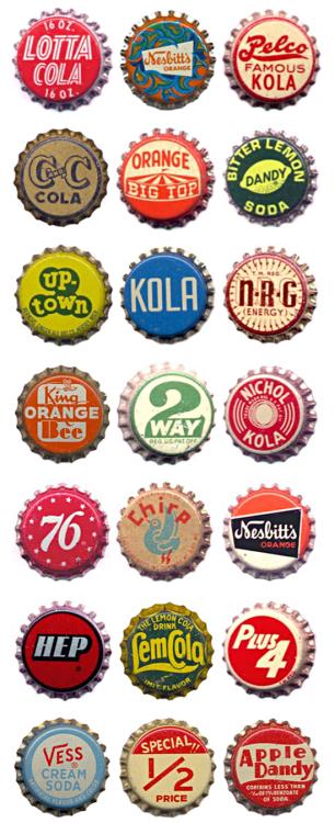 Typeverything.com  - 瓶盖系列。