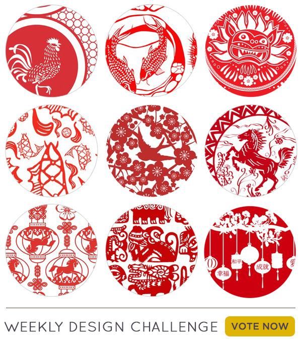 用这些剪纸设计庆祝中国新年