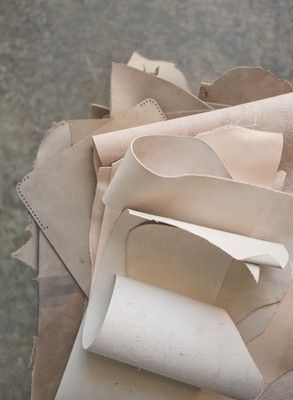 Creamy #leather swatches. {Follow @Jess Liu Grinsteinner Barley on Twitter & Instagram}