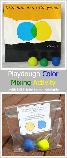 这里有一个有趣的混色活动使用playdough!孩子们的动手活动受到Leo Lionni受欢迎的儿童书籍Little Blue和Little Yellow的启发。这篇文章还包括免费打印给教师,让家长可以将家送回家,以便他们的孩子可以在家中享受活动