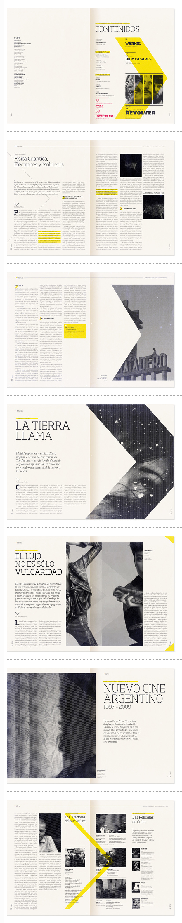 Display of successful integration between graphic elements and typography. Interesting use of geometrical shape, and an emphasis on colour as a feature.