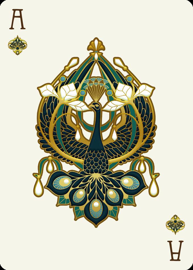 Nouveau BIJOUX黑桃王牌 - 扑克牌艺术,游戏,扑克牌收集,扑克牌项目,卡片收藏家,设计,插图,纸牌游戏,游戏,卡片,cardist,cardistry,bijoux,首饰