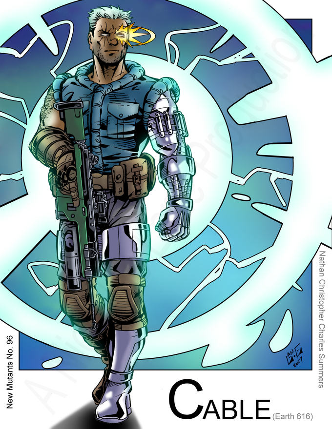 Cable - Time Displaced (Marvel Comics) New Mutants inspired by Max Dunbar by Nickolas Lane