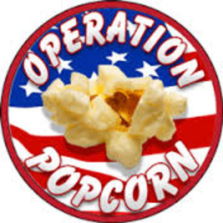 POPCORN - A big hit with the troops, Operation Popcorn enhances the morale and welfare of the deployed troops worldwide by sending them a taste of home via millions of pounds of free microwave popcorn treats every year. SupportOurTroops.org, the Boy Scouts of America, and Trail's End® Popcorn team up to pull this off yearly. www.operationwearehere.com/ideasforsoldiers.html