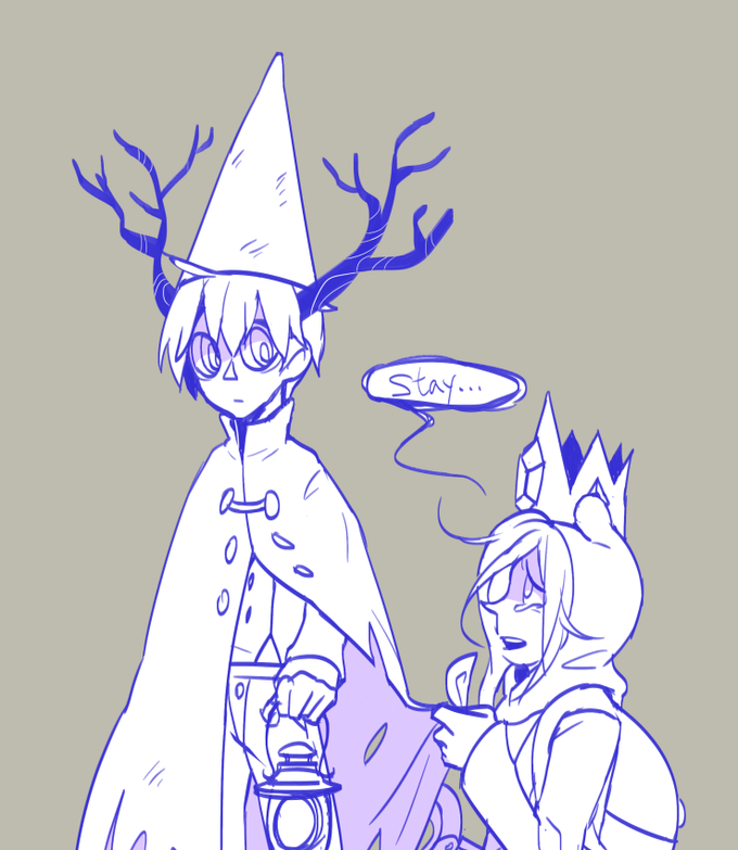 Bad end friends. Adventure Time (Finn Ice Prince) Over the Garden Wall (Beast Wirt)