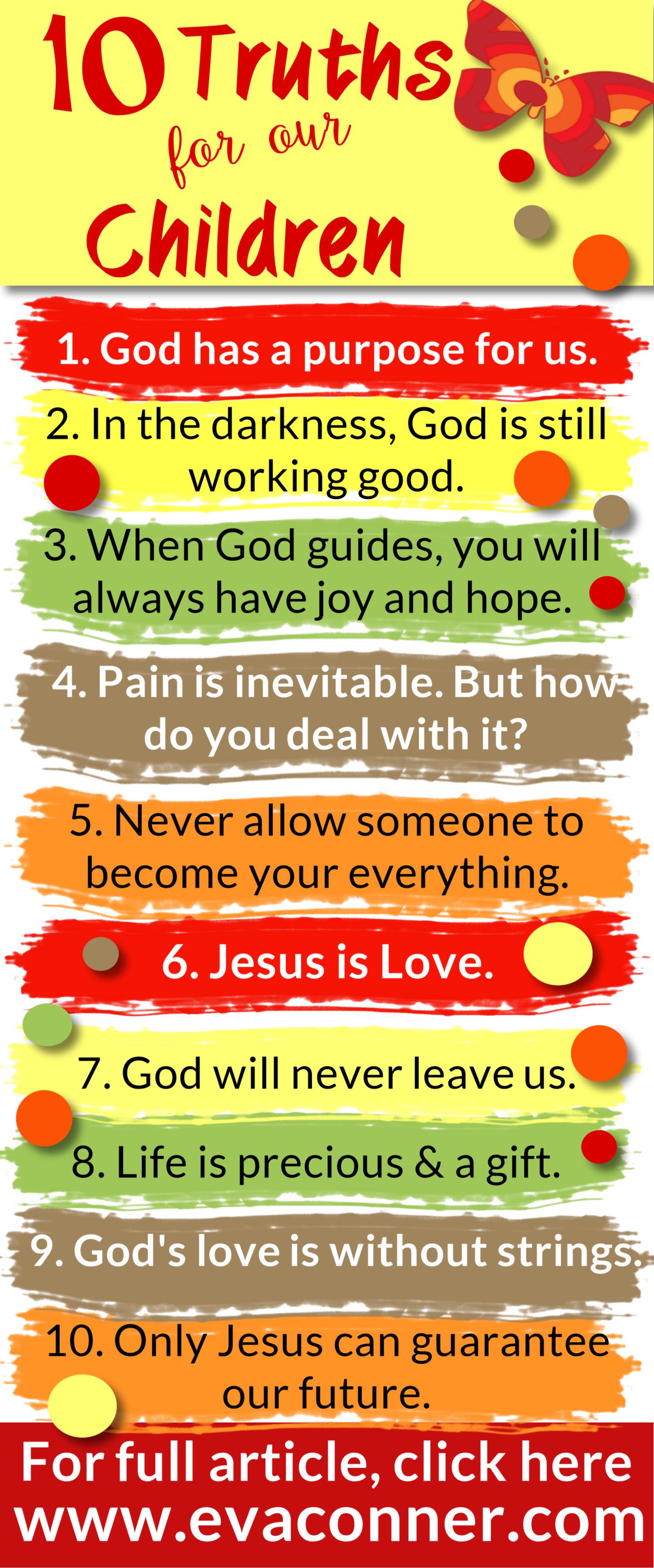 这里有10个关于我们孩子的真理。作为父母,当我们看到孩子受伤时,我们想为他们解决问题。有时我们必须退后一步,让上帝。