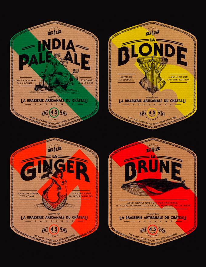 Bronze award at Pentawards 2014 Fr Les bières sont brassées avec un savoir-faire traditionnel que le visuel doit exprimer. A3 Studio a donc développé un univers graphique à la fois contemporain et traditionnel. Les étiquettes pour la Brune, la Blonde, la Ginger et l'India Pale Ale sont inspirées de l'univers marin et sont ornées de …