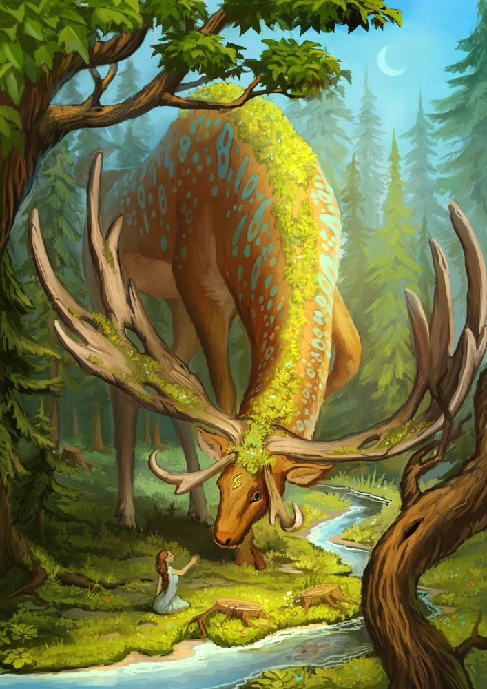Deer god by Sedeptra http://sedeptra.deviantart.com/art/Deer-god-428942702