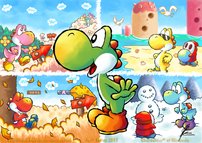 yoshi's new island official artwork - Google Search