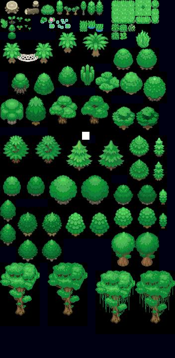 Tons of Tileset 1/10 - Light jungle trees by Phyromatical on DeviantArt