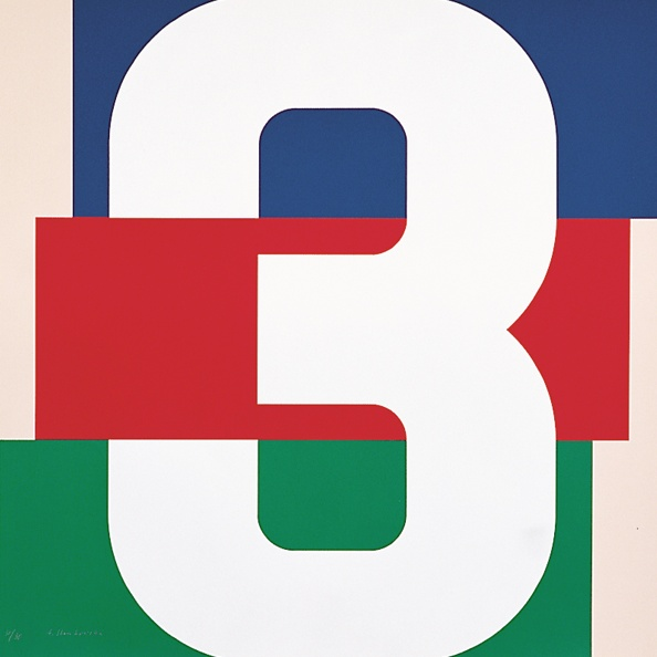 Anton Stankowski Numbers 1970s More to see; Edition Domberger. The artwork was done as a project for the floor numbers of the Cityhouse