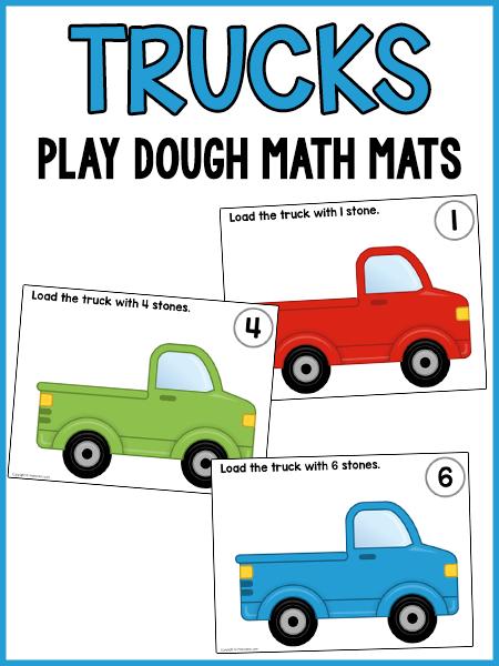 这些卡车玩面团计数垫是一个学习活动,孩子们可以在学习的同时享受乐趣。他们将练习计数和精细运动技能......