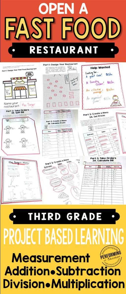 针对三年级学生的大型项目学习(PBL)!包括测量,乘法,除法等等!非常适合通用核心数学。用这个高质量的数学项目帮助你的学生练习现实生活和数学技能。它包括一名教师