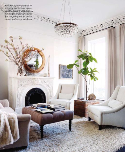 白色的客厅