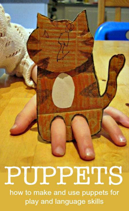 有趣,创意,简单的想法与儿童制作木偶〜在NurtureStore的简单播放::复杂学习系列的一部分