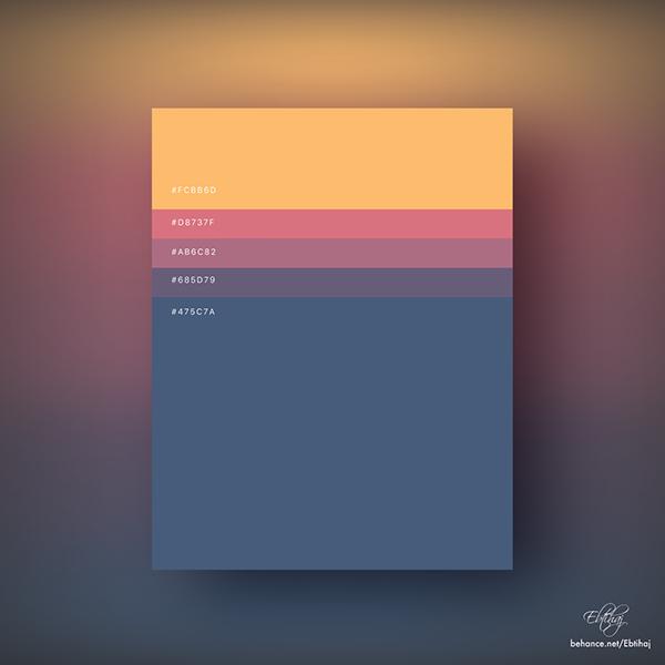 Minimalist Color Palettes 2018 on Behance