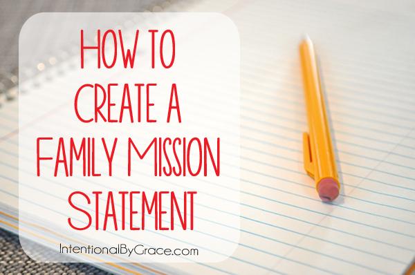 关于如何创建家庭使命陈述的分步指南。