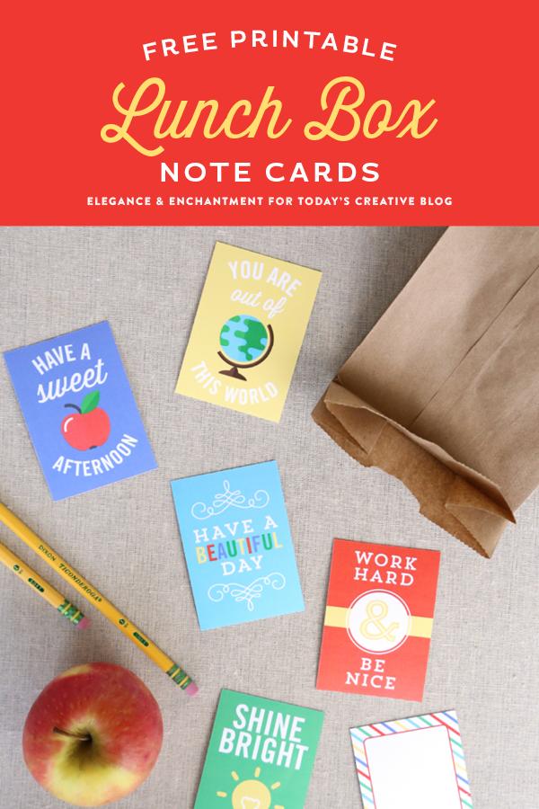 免费打印午餐盒便条卡让您和您的孩子感觉更好!回到学校Printables |在TodaysCreativeLife.com上查看更多有创意的想法