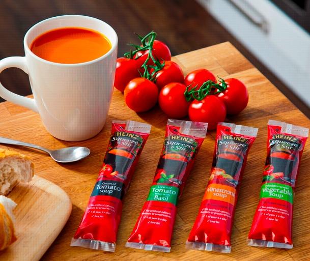 Heinz Squeeze and Stir Stick packs - #flexo #convenience #packaging