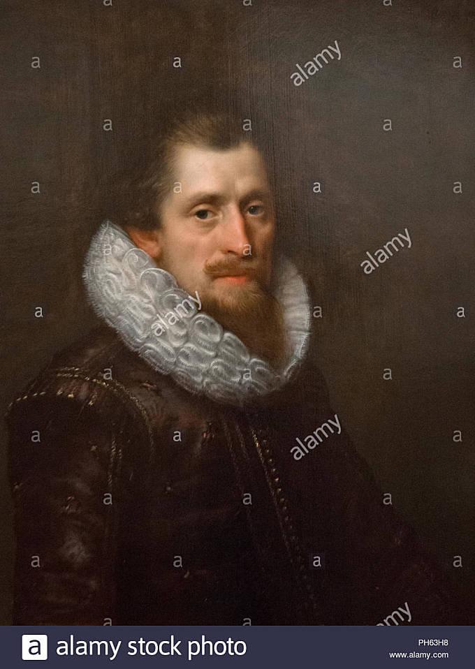 Paulus Moreelse - Portrait of a Gentleman (1622) - Stock Image