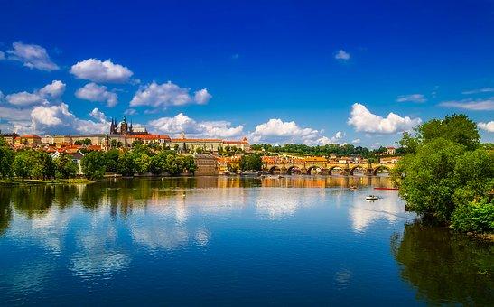 布拉格, 捷克共和国, 城市, 结构, 里程碑, 历史, 河, 水