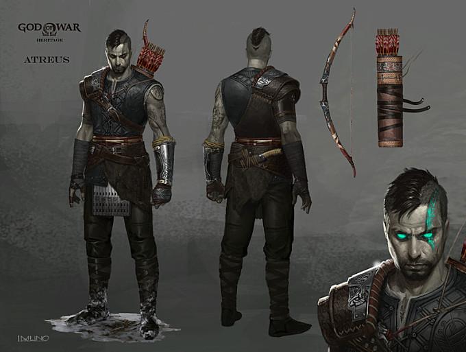 God of War Heritage - Atreus visual development