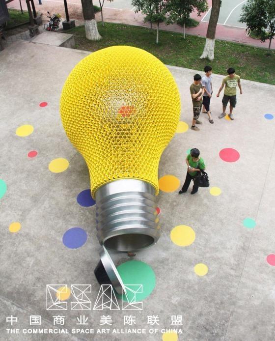 【创意】发光的梦想灯泡美陈装置@中国商业美陈联盟 2