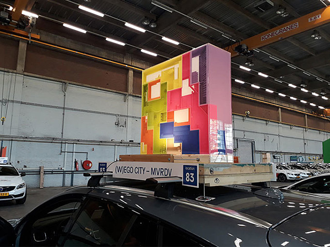 MVRDV builds a Tetris-like, adaptable and inhabitable installation to envisage future homes