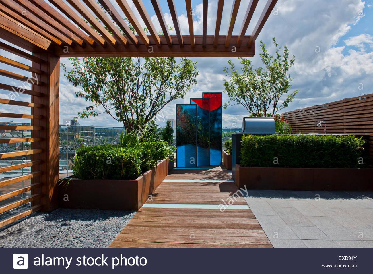Contemporary roof garden - Stock Image