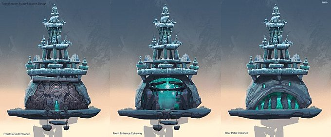 Smallfoot - Visual Development - Stonekeepers Palace - Early Concept
