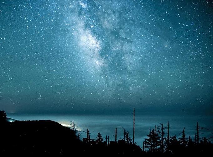 Clear Blue Night Sky
