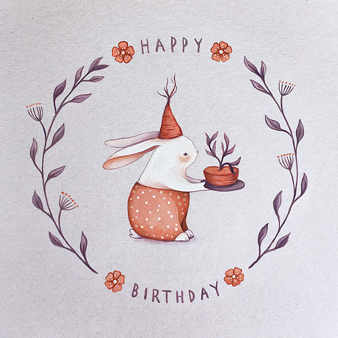 My Greeting Cards - rabbit, fox, mouse and squirrel