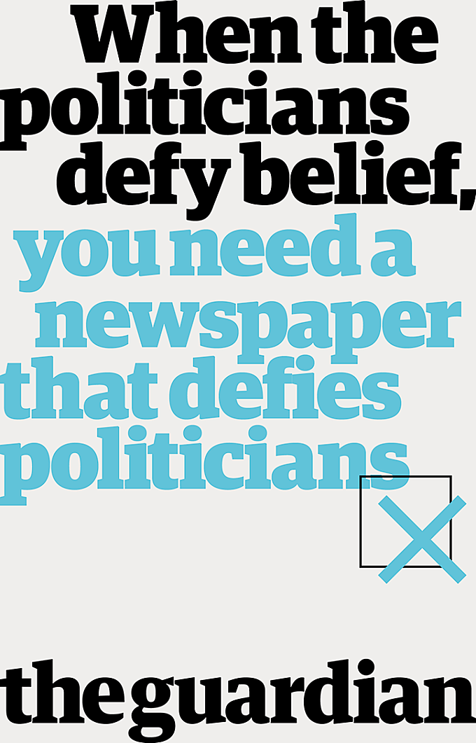 """Guardian's """"unapologetic"""" print campaign by BBH proclaims the newspaper's independence"""