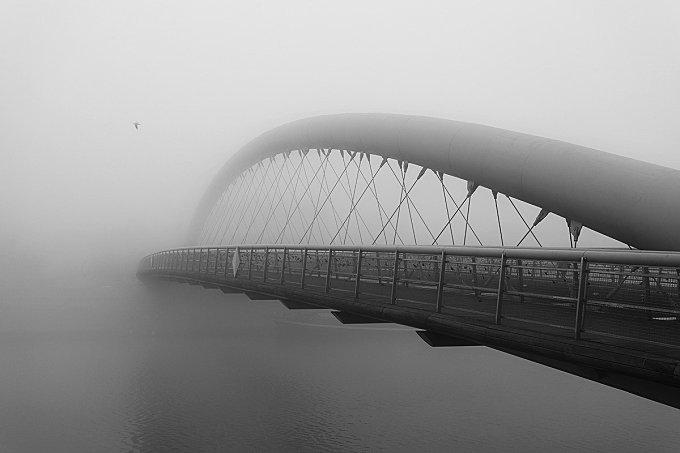 Krakow in the morning fog