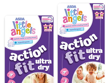 ASDA Little Angels Nappies Packaging Design