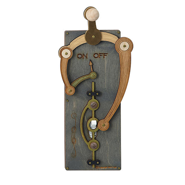 Toggle Switch Plate Offers Cool Steampunk/Industrial Style Switch Cover