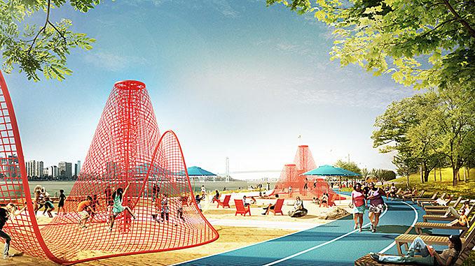 Four design teams unveil concepts for Detroit's West Riverfront Park February 12, 2018,AEST