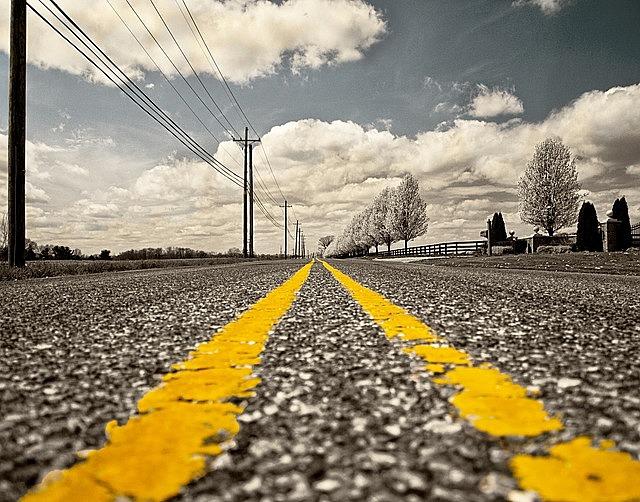 road, road marking, street