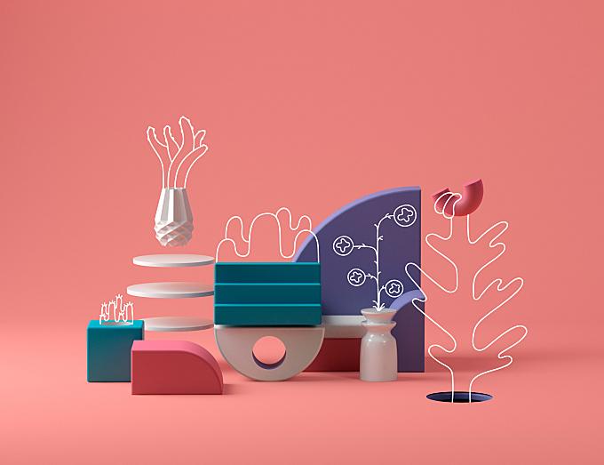 Colorful 3D Artworks
