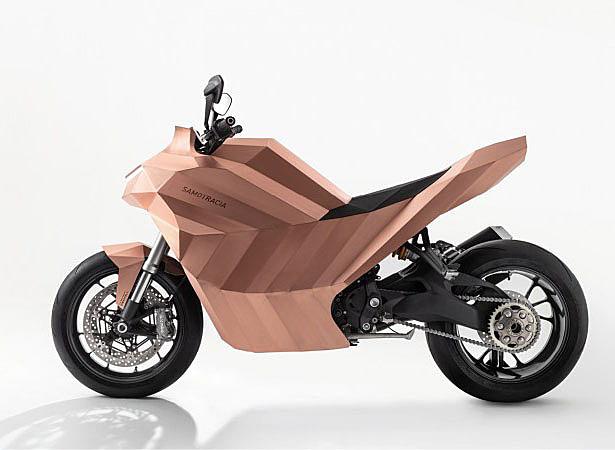 Samotracia Copper Motorcycle by Mario Trimarchi for De Castelli