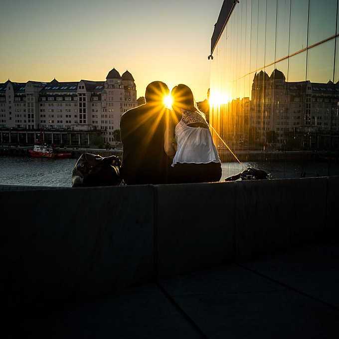 Love - Oslo, Norway - Color street photography