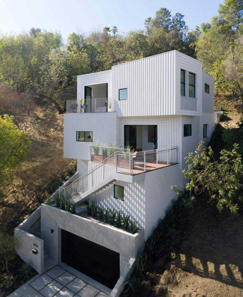 FreelandBuck Designs a Stacked, Multilevel Home Built into a Los Angeles Hillside