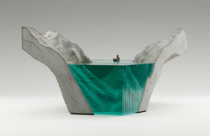 New Layered Glass Wave Sculptures by Ben Young sculpture ocean glass #ocean #glas #water #wave