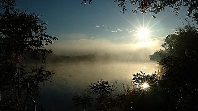 Shiny sunshine on the river