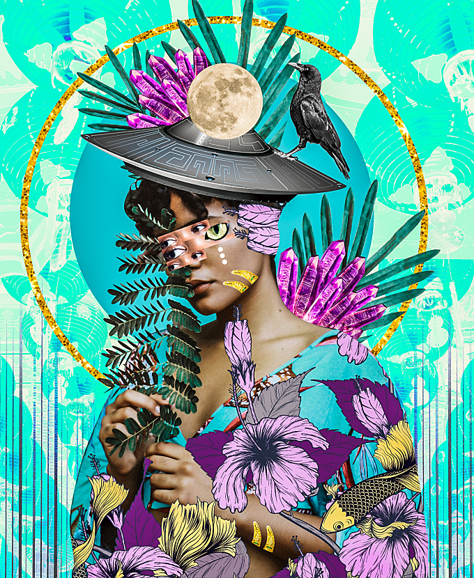 Electric and Vivid Collages by Kaylan M