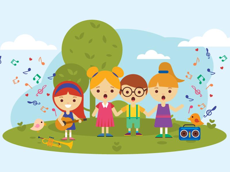 Illustration   children's song 02