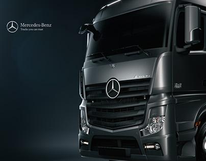 Mercedes Actros - CGI & Retouching
