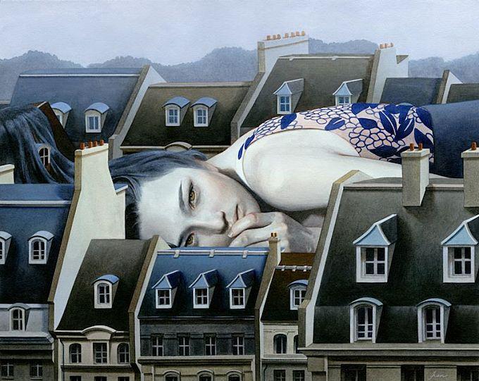 Dreamy Paintings of Women on Buildings by Tran Nguyen