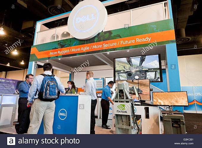 Dell exhibit booth at US Navy League Sea-Air-Space Exposition - Washington, DC USA - Stock Image