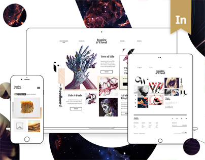 Inspire and Travel — Digital Magazine Website